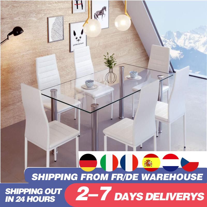 6pcs/set Modern Simplicity Family Bedroom Study Living Room Leisure Chair Solid Wood Dining Chair Chair Office Chair HWC