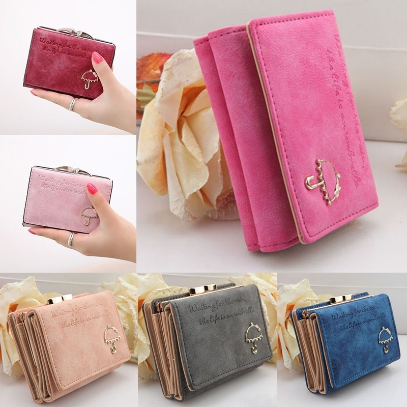 Women Wallet 2020 Fashion Portefeuille Femme Button Clutch Purse Short Wallet Card Holder Purse Women Clutch Dropshipping