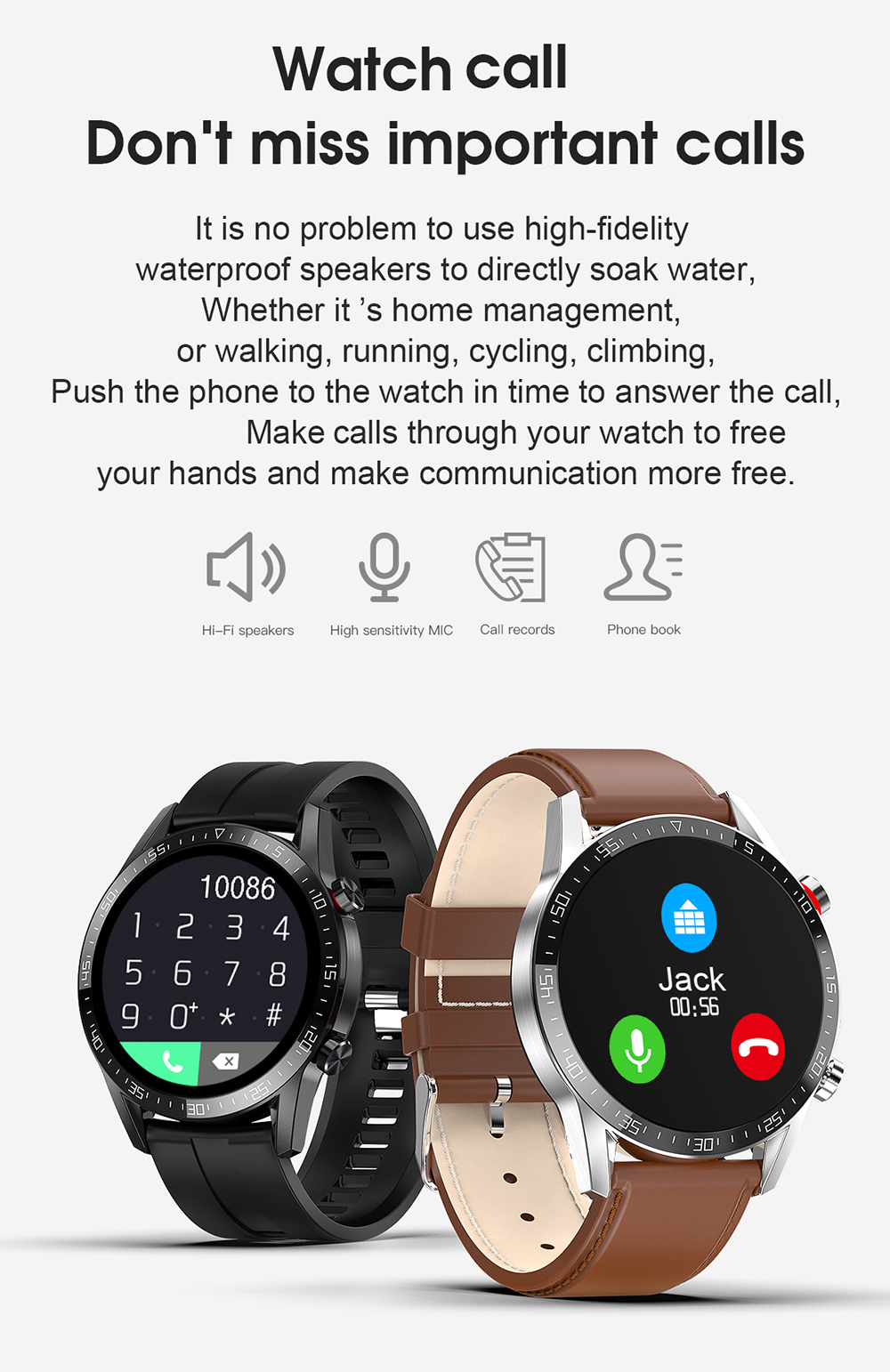 Ha534182c3efd4c4a889239f3f3876206D For Phone Xiaomi Android IOS Reloj Inteligente Hombre Smartwatch Men 2021 Android IP68 Smartwatch Answer Call Smart Watch Man