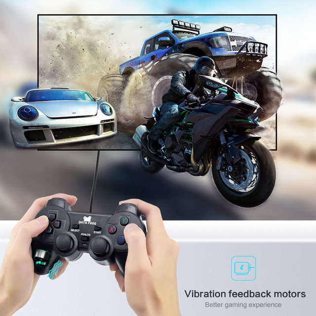 Vibration Joystick Wired USB PC Controller For PC Computer Laptop  For WinXP/Win7/Win8/Win10 For Vista Black Gamepad 4