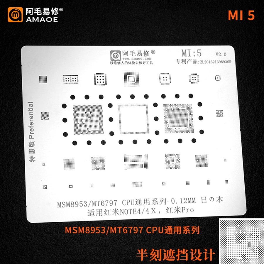Amaoe MI5 BGA reballing stencil for xiaomi redmi note 4 4x pro msm8953 mt6797 Chip Tin Plant Net 1