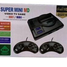 Console de jeu vidéo SUPER MINI MD, pour Sega Mega Drive MD 16 BIT 86 jeux 8 BIT 605 différents, deux manettes de jeu intégrées