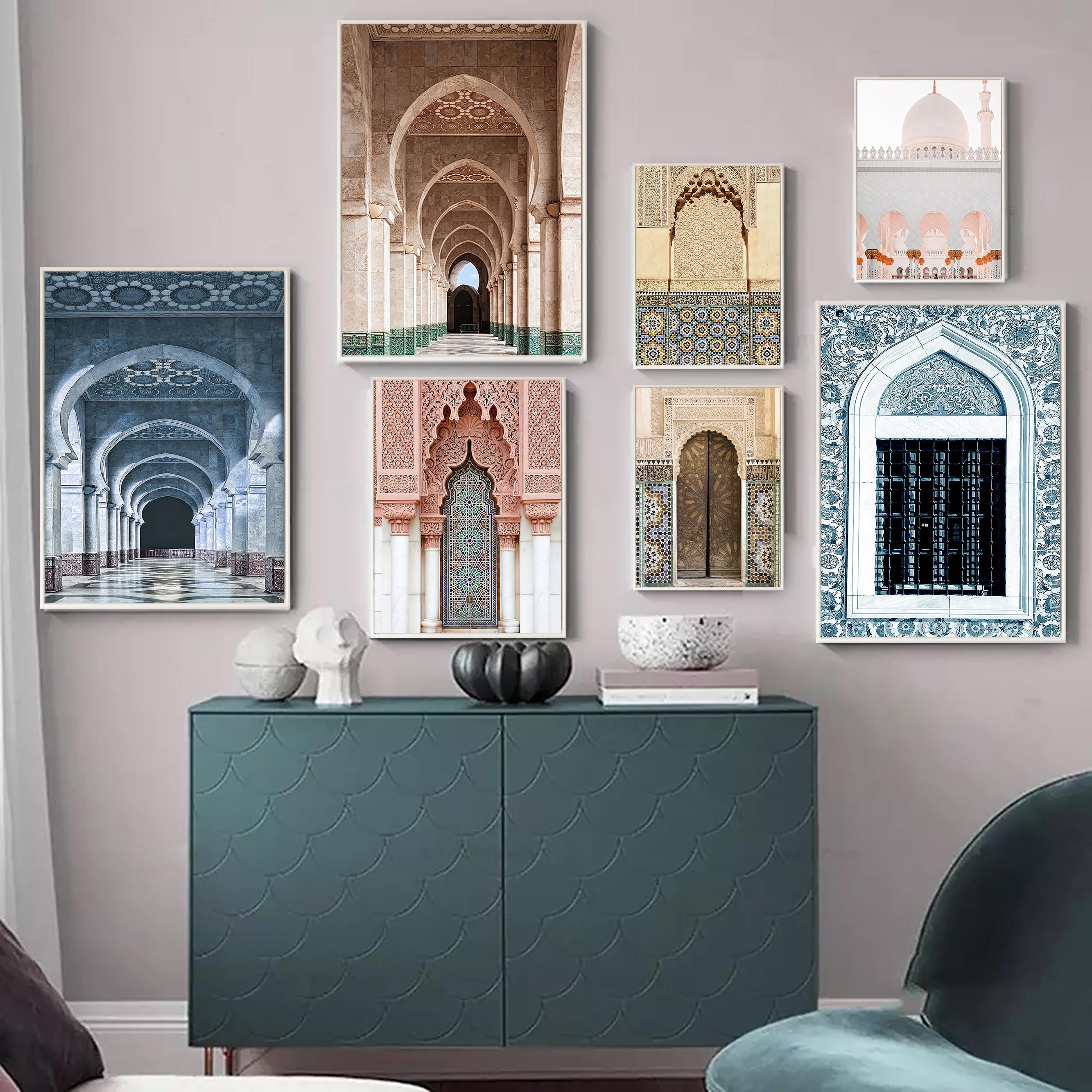 Скандинавские марокканские двери замок Касабланка дворец винтажные постеры всемирно известная архитектура художественные картины Печать холст Картина Декор