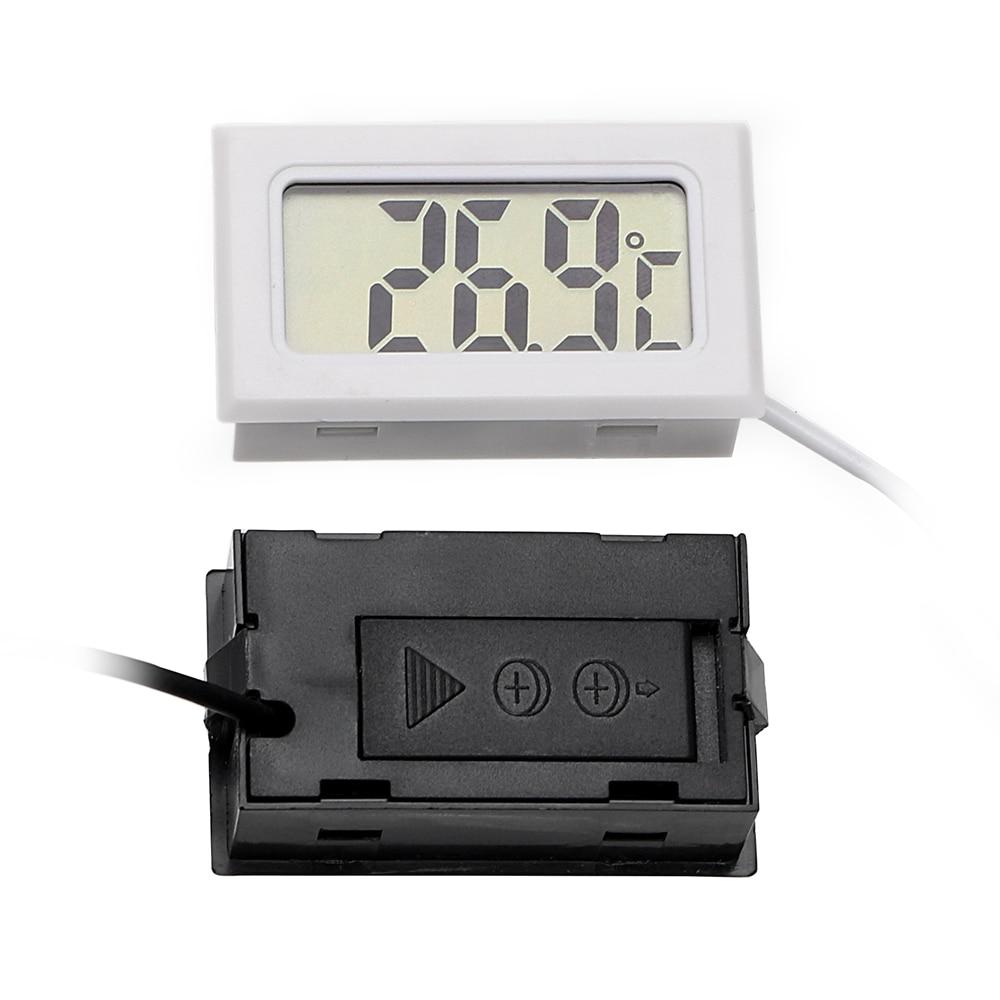 LEEPEE Car-Styling Digital Clock Car Ornaments For Fish Tank Refrigerator LCD Display Car Thermometer Temperature Gauge Meter