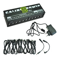 ABZB CP 05 wall output power supply for effects pedals 10 channel DC 9V DC 12V and 18V(black)