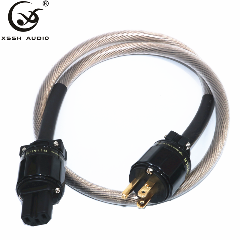 0.5m 0.75m 1m 2m 3m ODIN XSSH audio AC US IEC NEMA plug OFC Pure Copper Plated Gold connector OFC Electric power Cable Cord