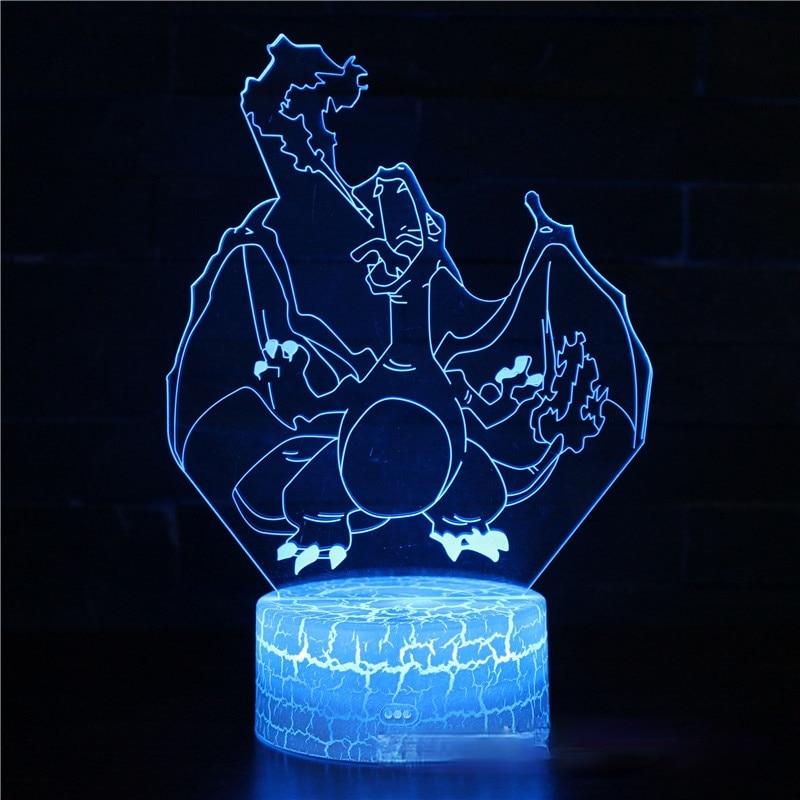 Pokemon LED Light 3D Night Light Illusion Lamp Light for Bedroom Decor LED Light Kids Gift Atmosphere Bedside Night Lamps Gifts
