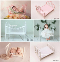 Dvotinst Newborn Photography Props Iron Posing Princess Mini Bed Poser for Baby Photo Fotografia Shoots Accessories Studio Props