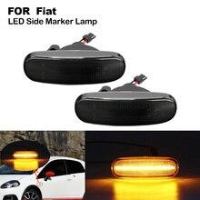 цена на 2 PCS LED Side Marker Turn Signal Light Indicator Lamp For Fiat Punto Doblo Peugeot Bipper Citroen Nemo Lancia Bing Marker Light