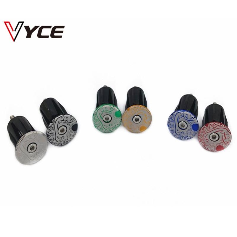 VYCE 1Pair Bike MTB Road Bicycle Aluminum Handlebar Handle Bar Cap End Plugs 44mm X 24mm