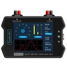ToolkitRC WM150 150A 50 в Ватт метр анализатор мощности ЖК-дисплей мощность Напряжение Ток Тестер ШИМ выход для RC FPV Дрон