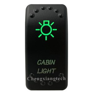 Image 2 - 12V 24V,ปิด,สีเขียว & ลงสีแดง Led Backlit  Cabin เลเซอร์ Rocker สำหรับรถเรือรถบรรทุก Push สวิทช์
