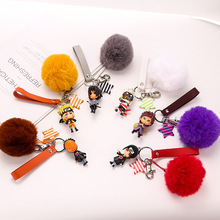 Cute Anime NARUTO Uzumaki Naruto Uchiha Sasuke Uchiha Itachi Uchiha Obito Gaara Doll Keychain for NARUTO Fans Jewelry Keyrings