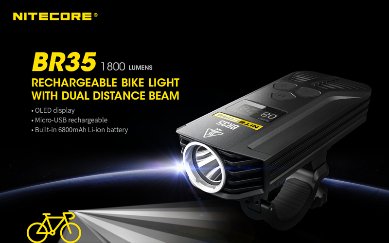 Nitecore BR35 1800 Lumens Rechargeable Bike Bicycle Front Light (1)