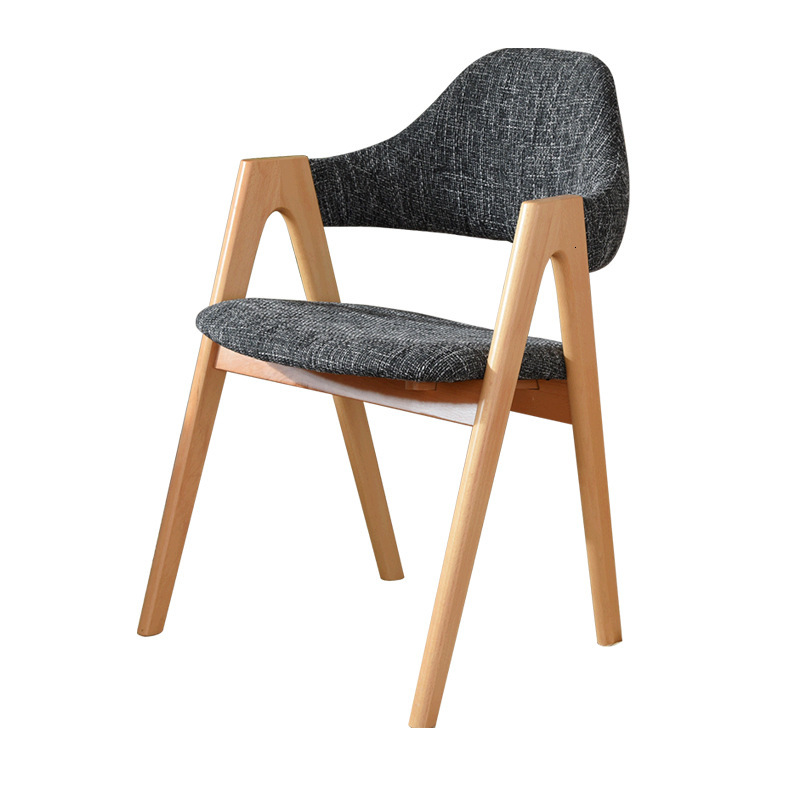Solid Wood Dining Chair Leisure Chair Computer Chair Office Chair Western Restaurant Nordic Creative Chair