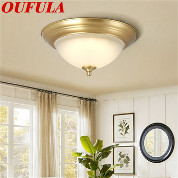 DLMH Copper Ceiling Lights Modern LED Fashionable Decorative For Home Porch Living Room Dining Bedroom
