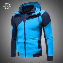 Men Zipper Hooded Sweatshirt Fashion Casual Hoodies Fleece Jacket 2020 Autumn Winter Male Streetswear Coat Jackets Sports Hot
