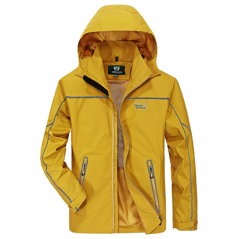 Men's Single Layer Outdoor Cold Warm Warm Windproof Waterproof Loose Large Size
