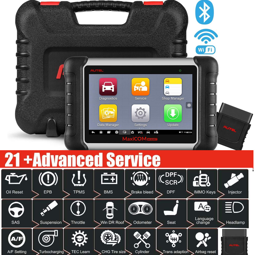 Autel MaxiCOM MK808BT Diagnostic Scan Tool with All System Diagnosis and 21 Services, IMMO, Oil Reset, EPB, BMS, SAS, DPF, ABS|Code Readers & Scan Tools|   - AliExpress
