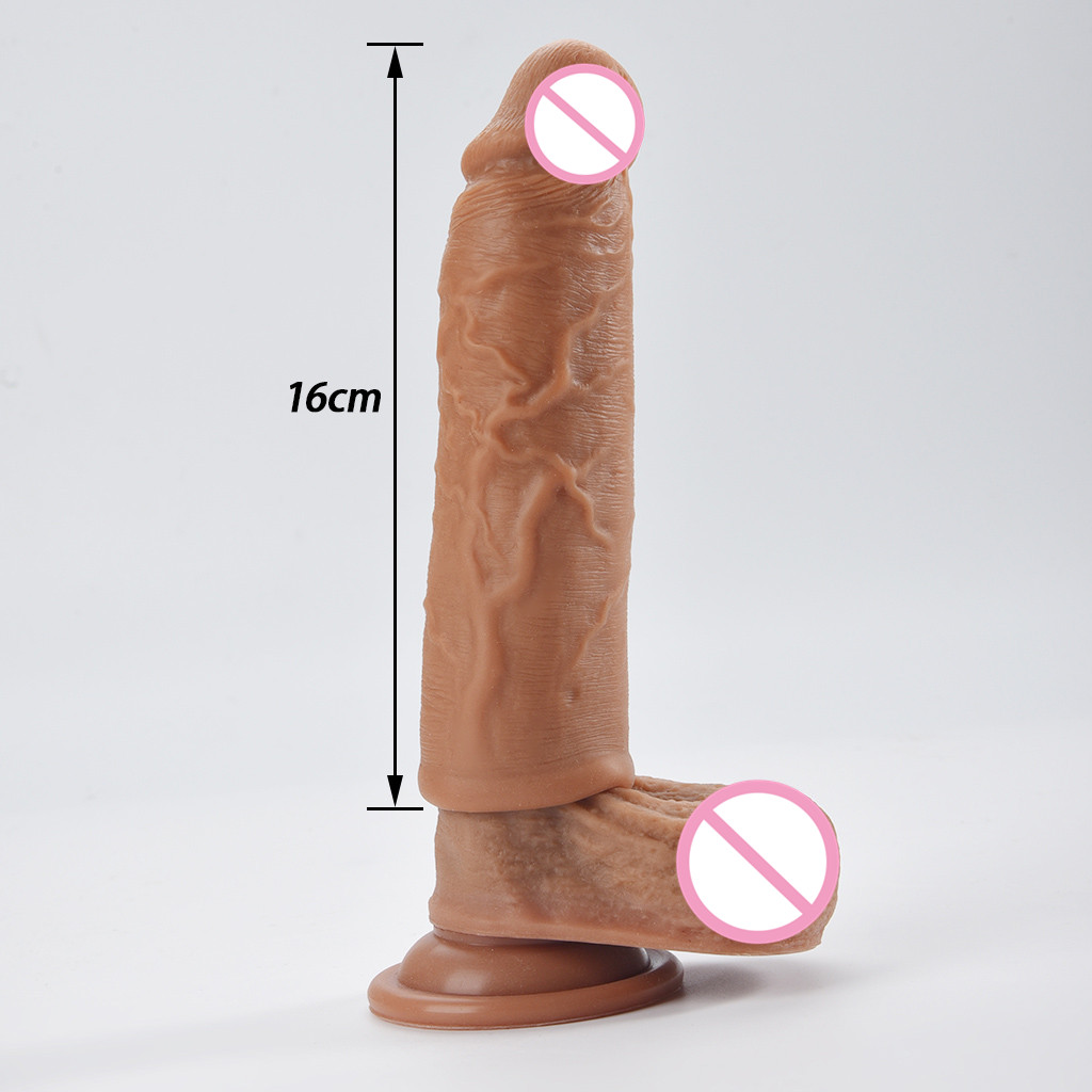 <font><b>Sex</b></font> <font><b>Dildo</b></font> no Vibrator for women Adult <font><b>Sex</b></font> <font><b>toys</b></font> <font><b>pussy</b></font> Penis Realistic Wear Men To Lock The Fine Wolf Braces Thickened Condoms H4 image