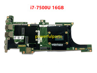 DX120 NM-B141 motherboard for lenovo carbon X1 mainboard with i7-7600 CPU+16g ram FRU: 01AY066 100% Tested well 1