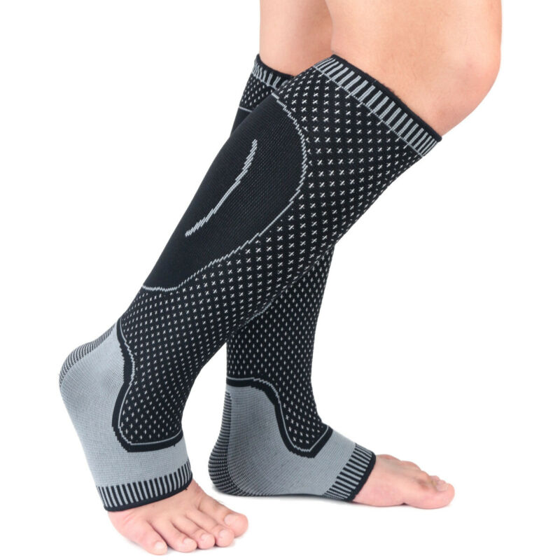 1Pc Mens Womens Compression Socks Running Medical Sports Calf Support Elastic Stress Socks 4 Colors
