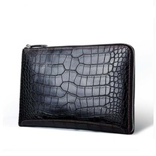gete New crocodile skin envelope, fashionable business mans clutch bag, European style and large-capacity men bag