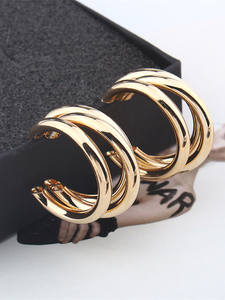 Vintage Earrings Geometric-Pendant-Earrings Fashion Jewelry Large Trend Women for Statement