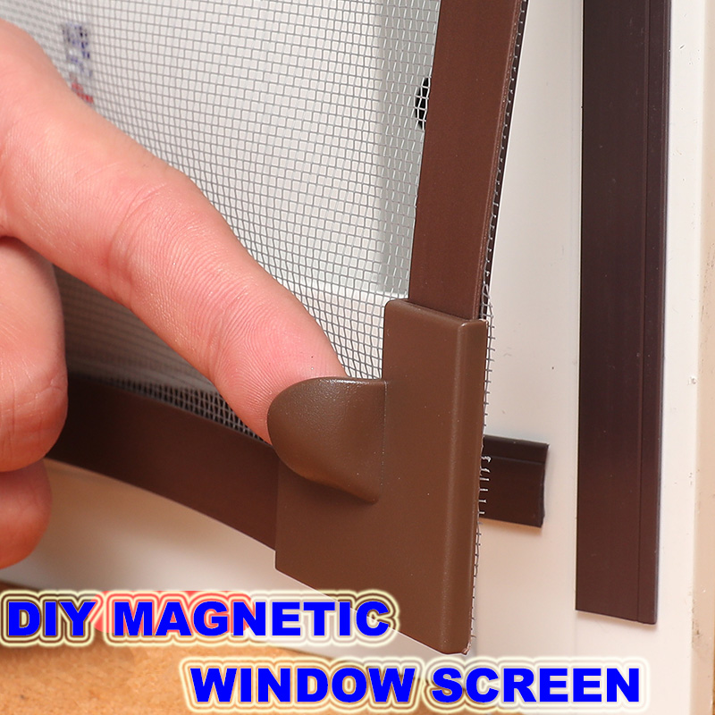 Invisible Fly Mosquito Screen Net Mesh, Custom Made DIY Magnetic Window Screen Fit Windows Up To Any Size Removable&Washable