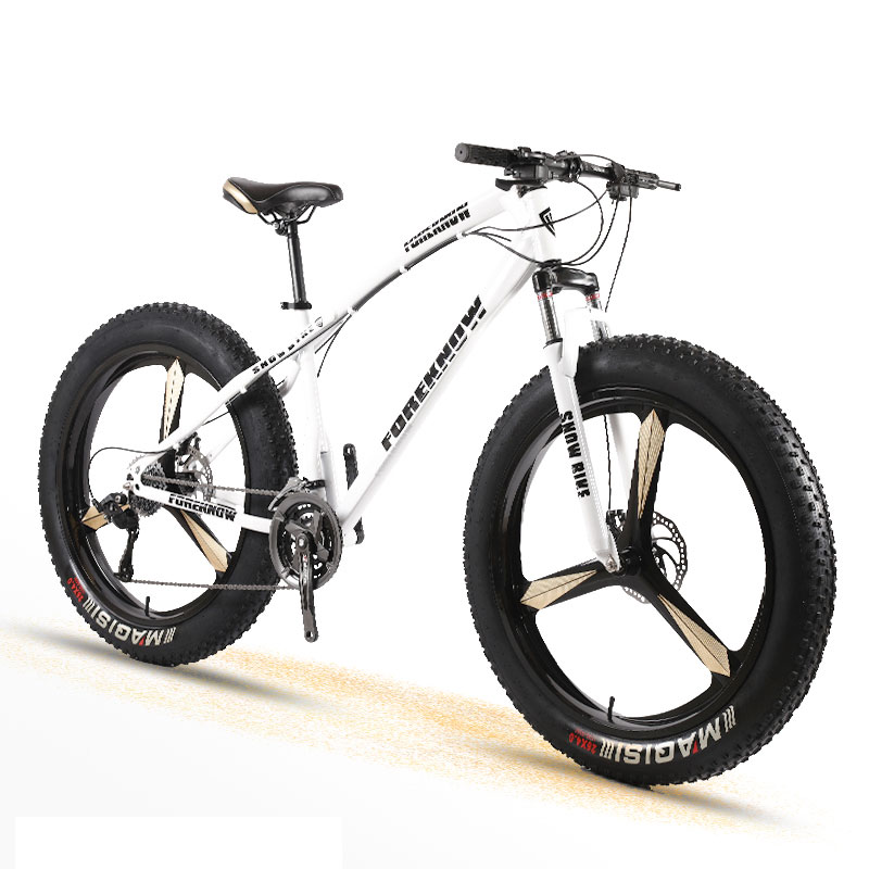 Snow Bike Adult Men And Women Mountain Cross Country Wide Tire Speed Student Disc Brakes Shock Absorber Bicycle