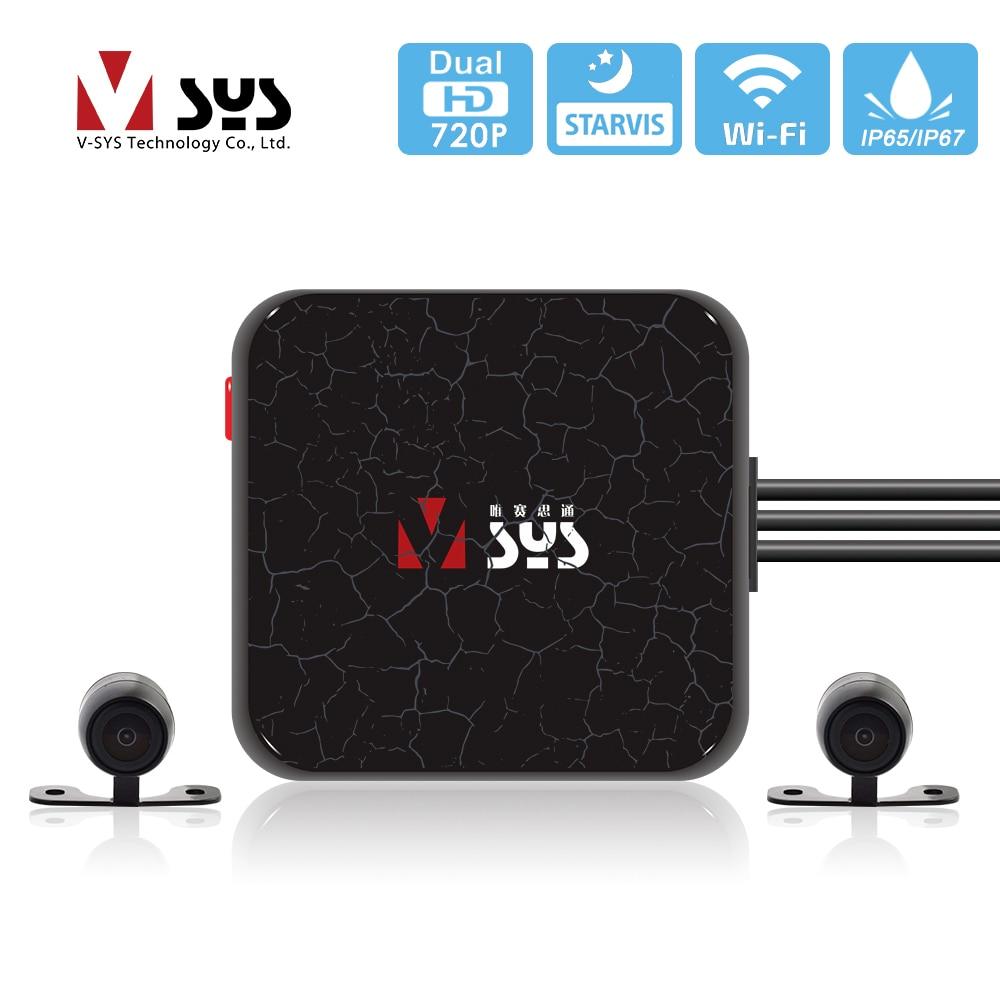 SYS VSYS C6L Upgrade E6L E6 WiFi Motorrad Kamera STARVIS Super Nachtsicht Roller DVR Motorrad Dash Cam Schwarz GPS box