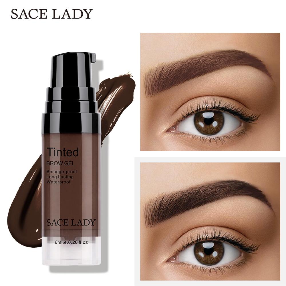 SACE LADY Eyebrow Dye Gel Waterproof Makeup Shadow For Eye Brow Wax Long Lasting Tint Shade Make Up Paint Pomade Cosmetic