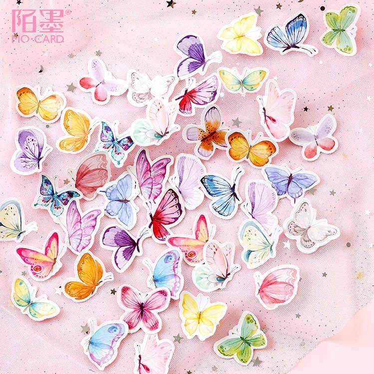 Lote de 40 unidades de pegatinas Kawaii de unicornio de la suerte, hermosa pegatina para pared, mariposa para niños, pegatinas de pared de habitación, decoración del hogar en la pared