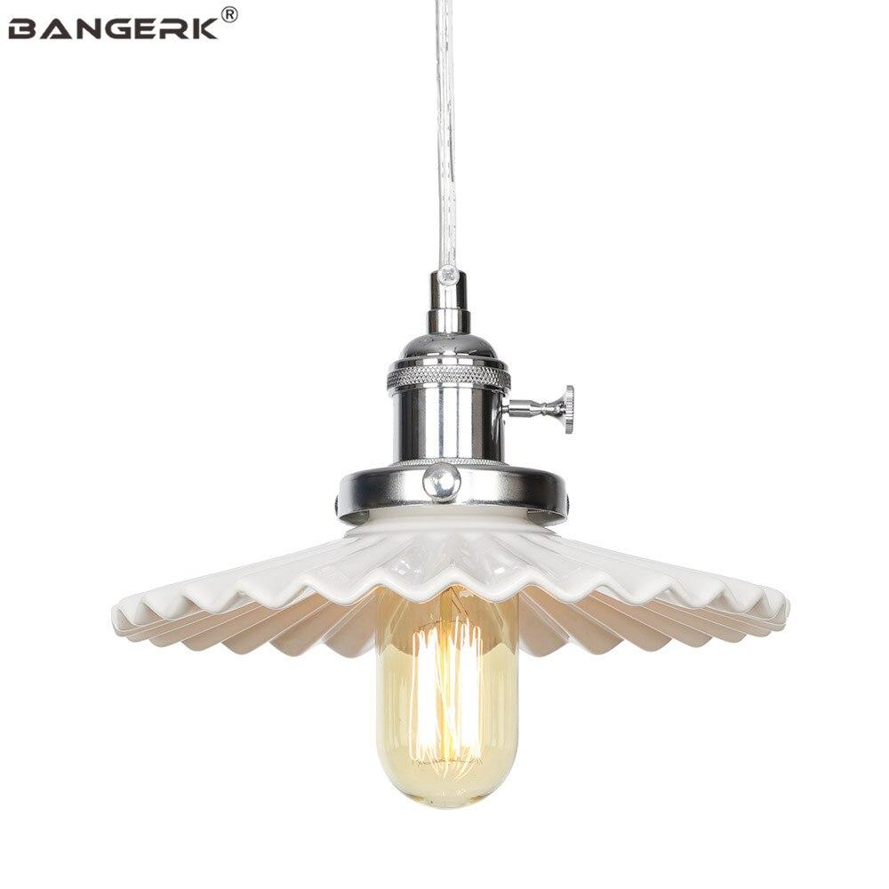 Nordic Design Ceramic Modern Pendant Lamp Loft Decor LED Hanging Light Iron Adjust Switch Dining Room Home Lighting Droplight