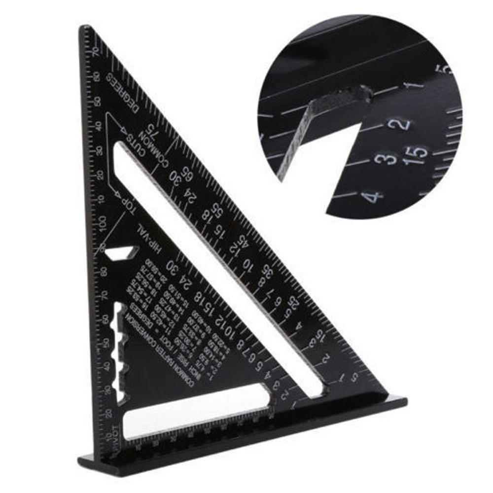 New Arrivals 7 Inch Angle Protractor Miter Gauge Set Square Measuring Triangular Ruler Students Stationery School Supplies