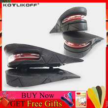 KOTLIKOFF Height Increase Insole Adjustable 2-Layer 4.5CM Air Cushion Invisible Pads Soles Insoles inserts For Shoes Men/Women(China)