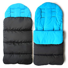Baby Stroller Sleeping Bag Windproof Winter Autumn Baby Sleep Sack Bunting Bag Warm Foot Cover Newborn Cotton Seat Cushion Pad