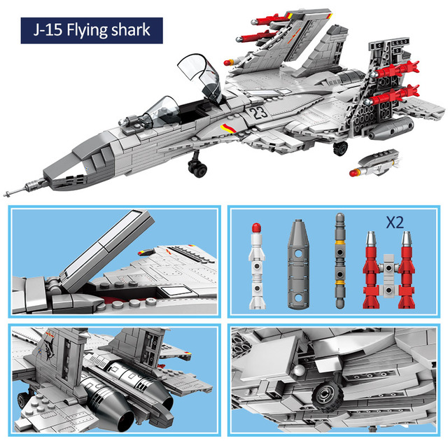 CITY Police Bombers Helicopter Military Model Building Blocks Creator Army Navy Carrier Fighter Technic Bricks Toys For Children