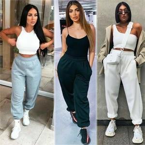 2020 New Women Casual Fashion Hip Hop Dance Sport Running Jogging Harem Pants Sweatpants Jogger Baggy Trousers Black/Gray/White