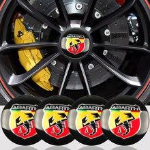 4 pçs 56mm escorpião carro emblema roda centro hub adesivo emblema para fiat abarth punto 124/125/125/500 stilo ducato estilo do carro