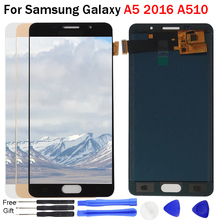 A510F Display For Samsung Galaxy A5 2016 A5100 A510 A510F A510M SM-A510F Display Touch Screen Digitizer Assembly A510 LCD repair samsung galaxy a5 2016 sm a510f black