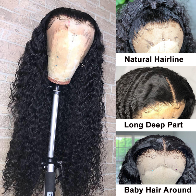 Kinky Curly Wig  13x4 Lace Front Wigs Curly  Wigs 13x4 Lace Front  Wigs Pre Plucked 3