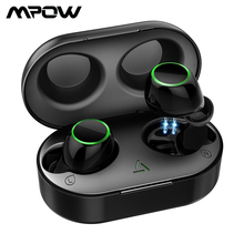 Aggiornato Mpow T6 TWS Bluetooth 5.0 Auricolare 3D Stereo Touch di Controllo Senza Fili di Auricolari IPX7 Impermeabile Con Cancellazione del Rumore Mic