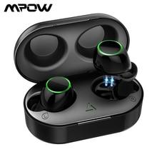 업그레이드 된 Mpow T6 TWS Bluetooth 5.0 이어폰 3D 스테레오 터치 컨트롤 무선 이어폰 IPX7 소음 차단 마이크가있는 방수