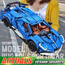 Yeshin 20086 Technic машинки Legoing Bugattis гоночный автомобиль Сборная модель автомобиля детские рождественские игрушки, подарки строительные блоки кирпичи