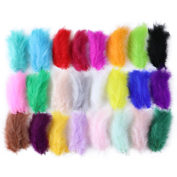 50 Pcs Fluffy Turkey Marabou Feather 10-15cm Turkey Feathers Plumes Decoration For Jewelry Making Clothing Sewing Wedding Crafts wholesale 4 8cm 1 6 3 2 inch pheasant feathers for crafts clothing costume feathers for jewelry making decoration natural plumes