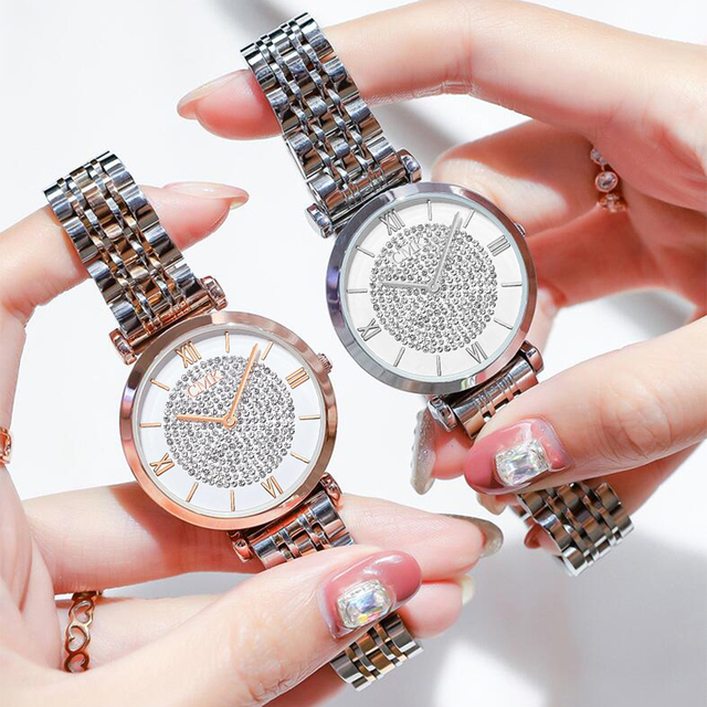 Women Watches Simple Romantic Rose Gold Ladies Watch 5