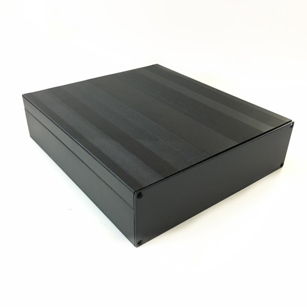 1pcs Cover Project Electronic Instrument Case Enclosure Box  Aluminum DIY Housing Instrument  Case  Black