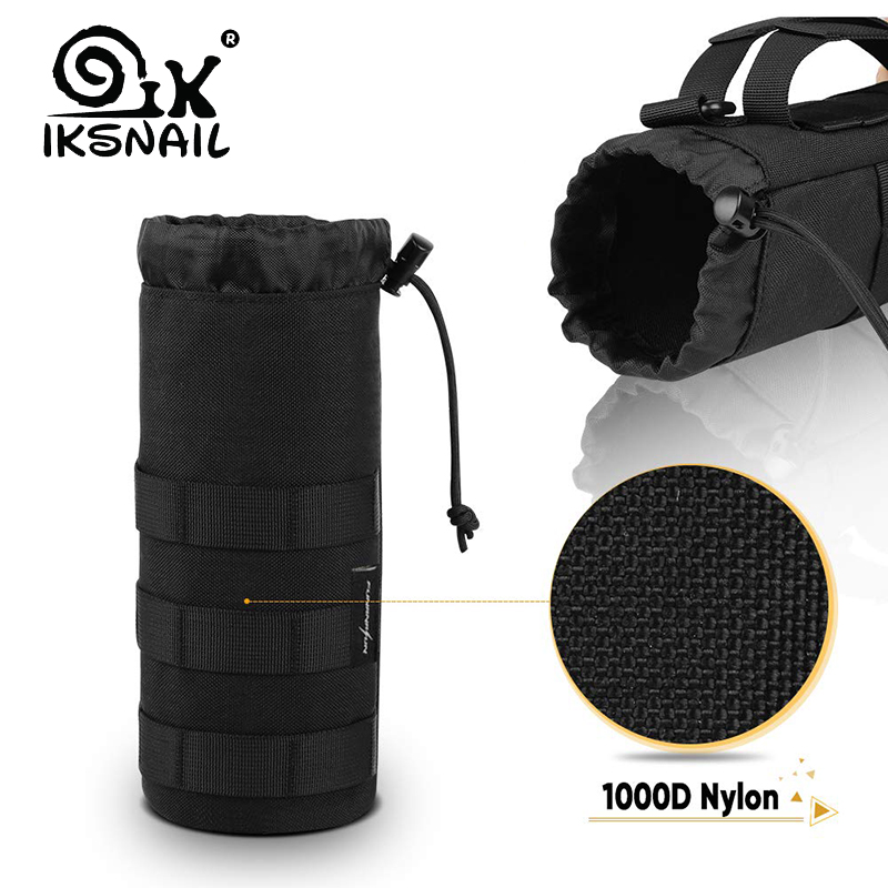 IKSNAIL Tactical Molle Water Bottle Bag Pouch Upgraded Travel Holder Sport Bag Outdoor Hydration For Camping Hiking Fishing Bags