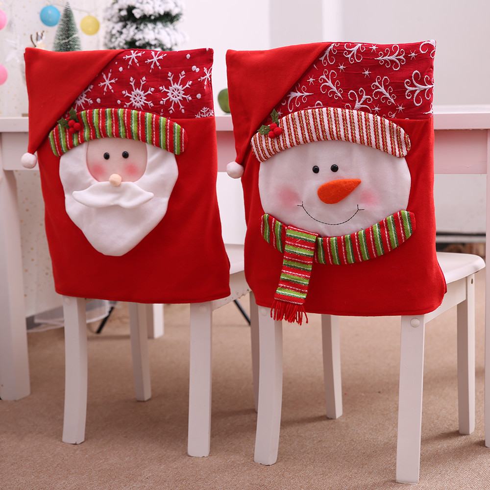 Christmas Chair Covers Christmas Holiday Home Furniture Decoration